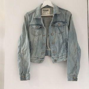 Washed jean jacket